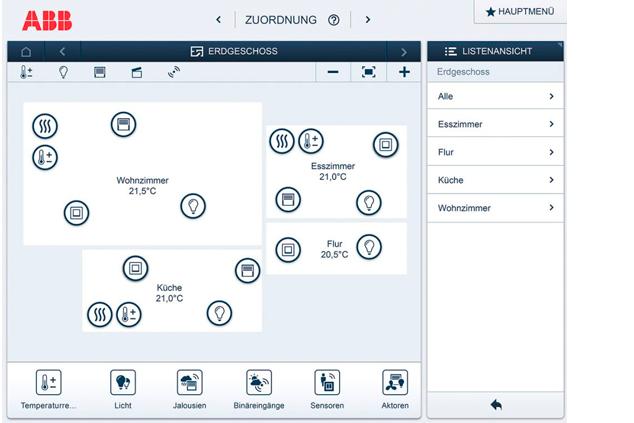 Dann Werden Die Sensoren In Der App In Den Grundriss Integriert Und In Der  Anlage Zugeordnet.